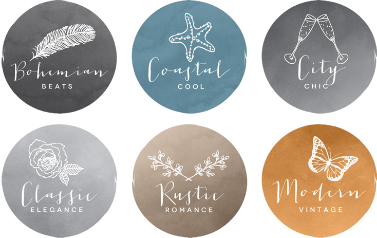 Coco Wedding Venues Style Categories Icons.