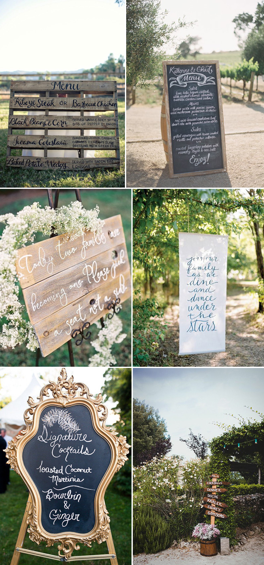 Coco Wedding Venues - Rustic Romance Wedding Style - Signage.