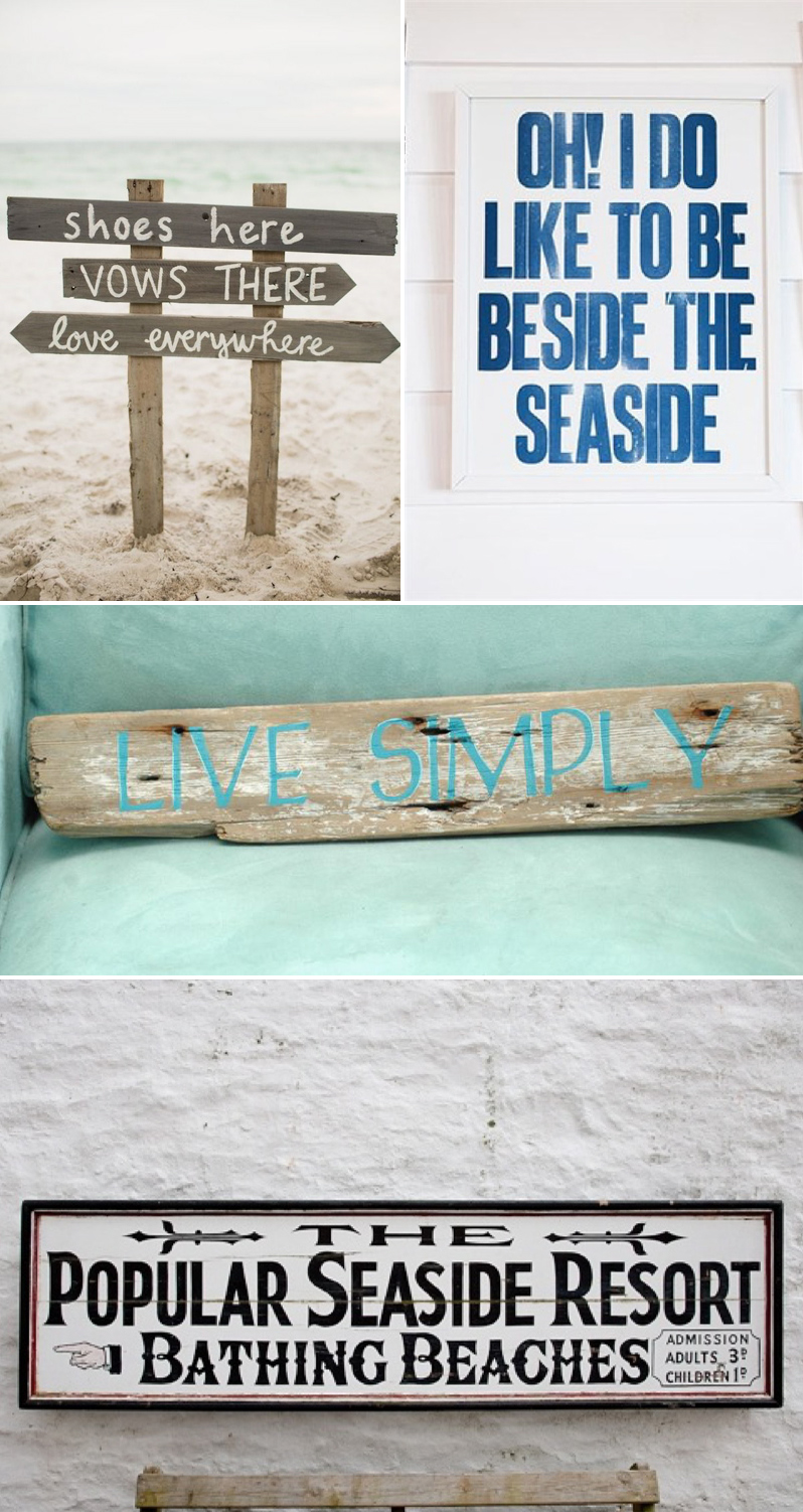 Coco Wedding Venues - Coastal Cool, Signs.