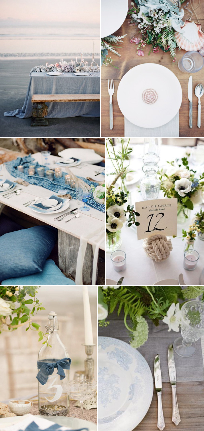 Coco Wedding Venues - Coastal Cool, Tablescape.