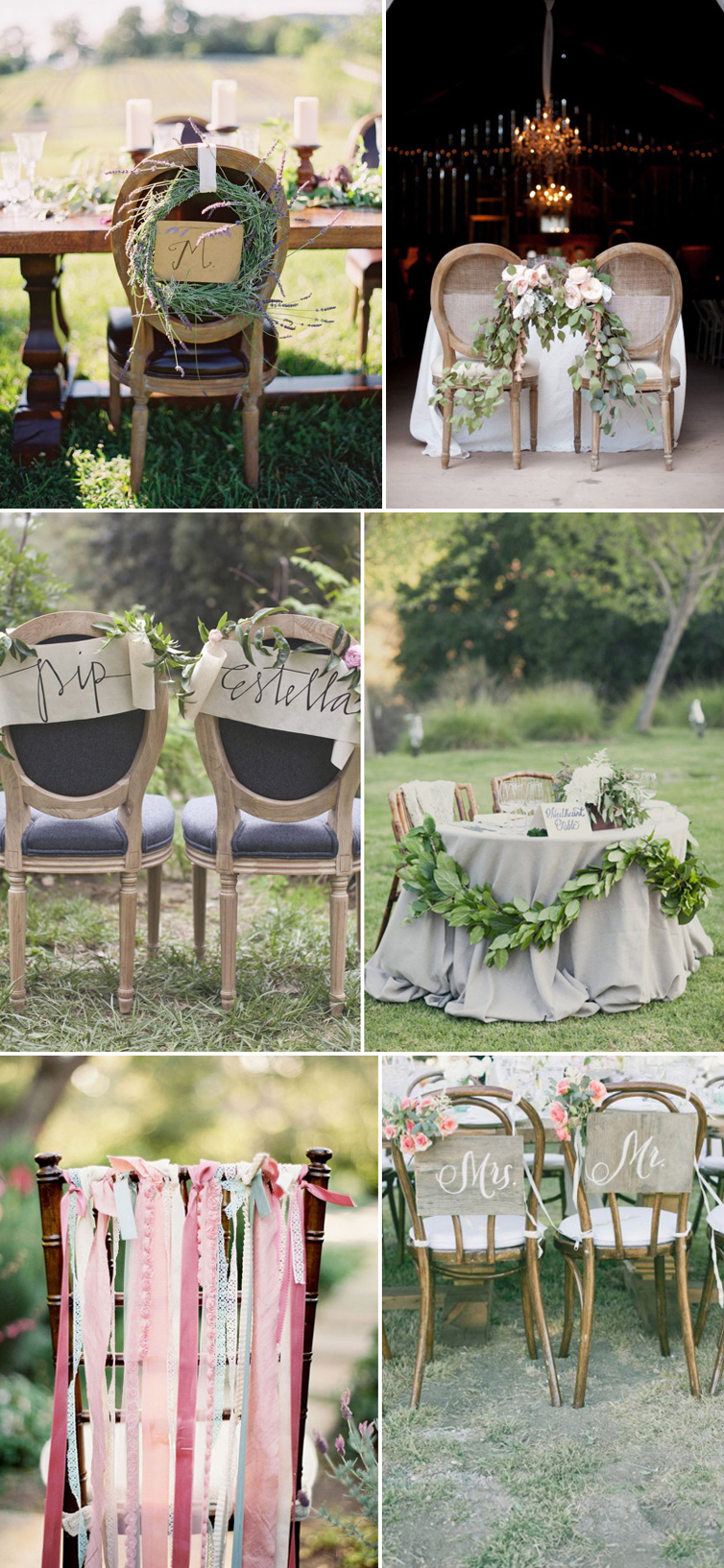 Coco Wedding Venues - Rustic Romance Wedding Style - Chair Decor.