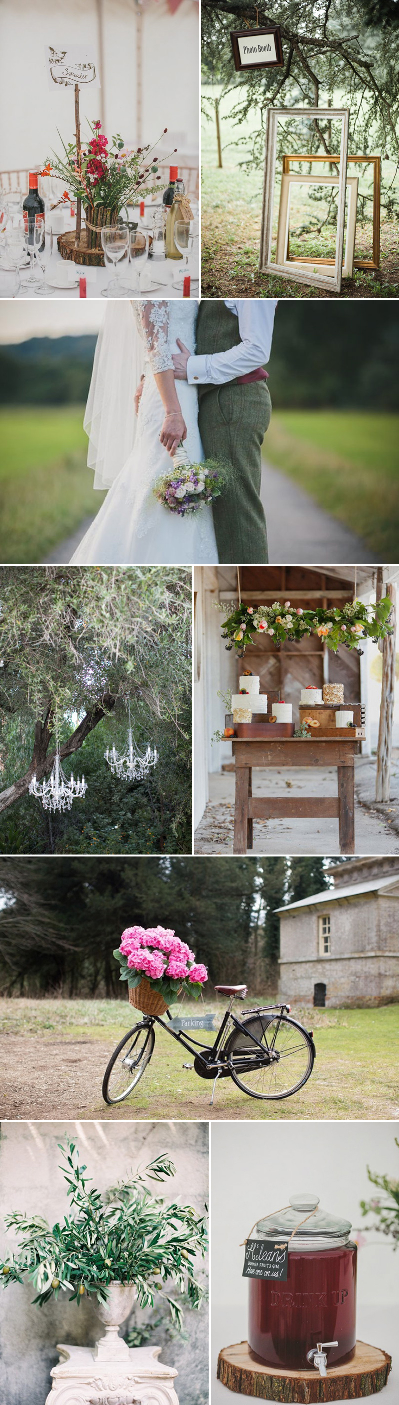 Coco Wedding Venues - Rustic Romance Wedding Style - Homespun Vibe.