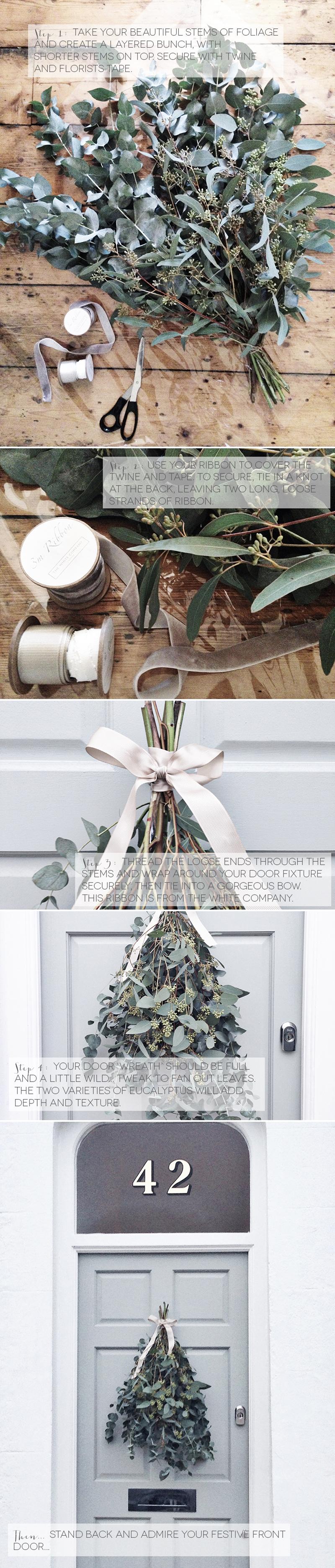 Coco Wedding Venues - A Simple DIY Christmas Door Wreath.