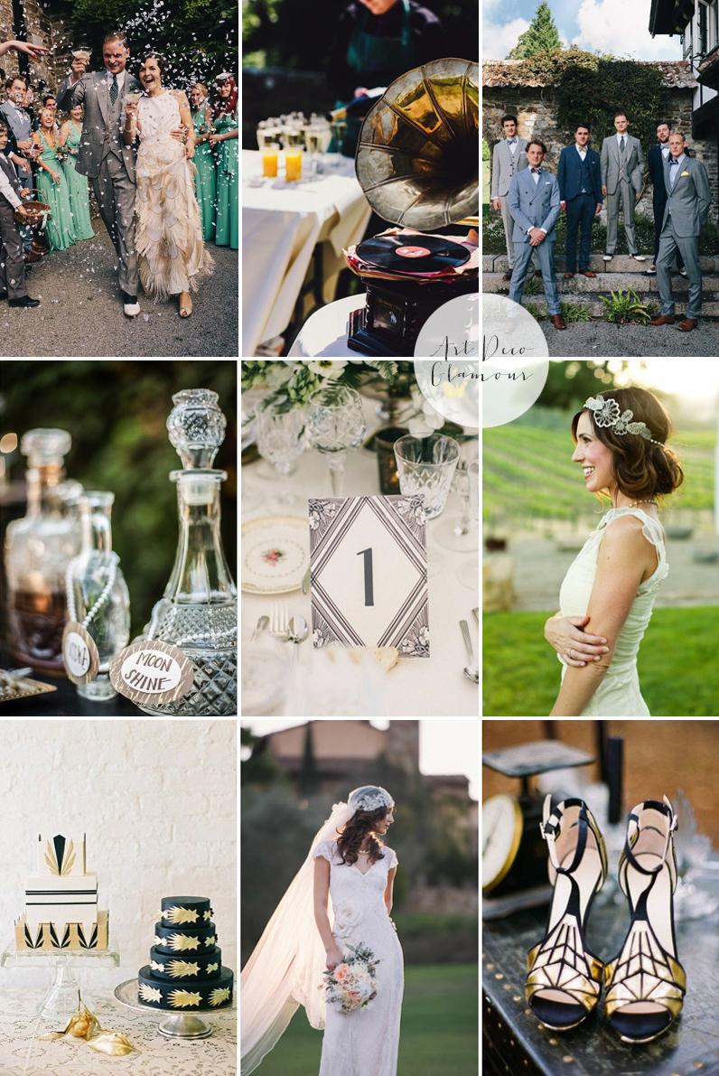 Coco Wedding Venues - 2014 Wedding Trends - Art Deco Glamour Moodboard.