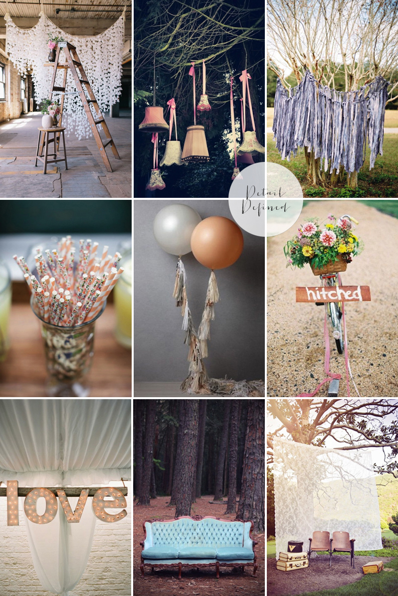 Coco Wedding Venues - 2014 Wedding Trends - Detail Defined Moodboard.