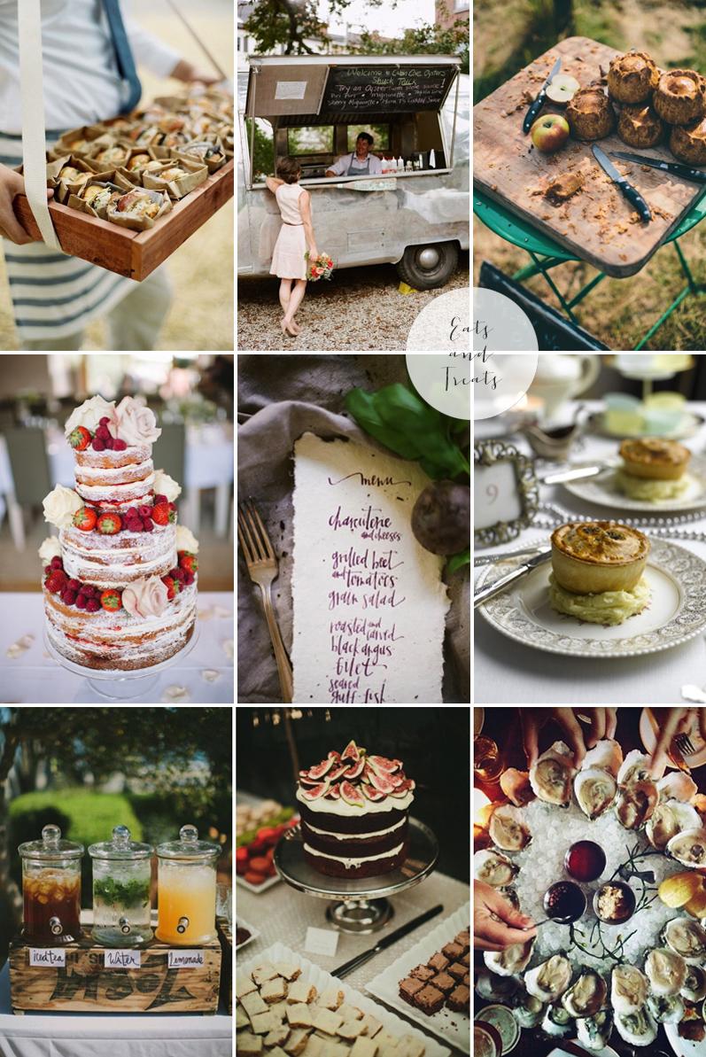 Coco Wedding Venues - 2014 Wedding Trends - Feast Moodboard.