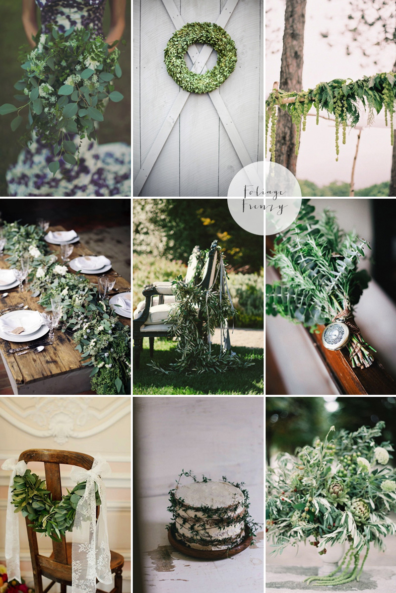 Coco Wedding Venues - 2014 Wedding Trends - Foliage Moodboard.
