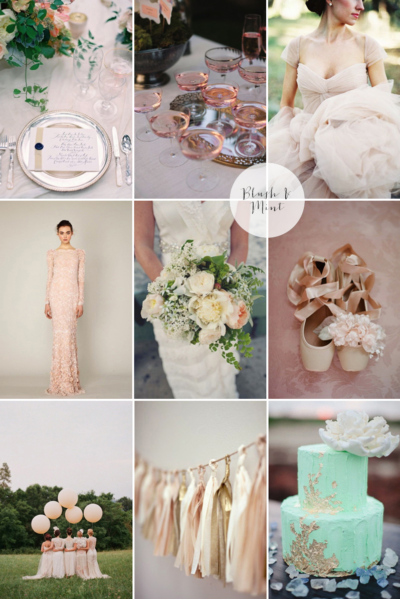 Coco Wedding Venues - 2014 Wedding Trends - Pantone Moodboard.