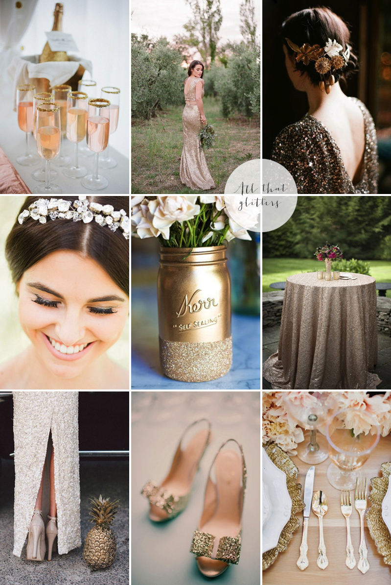 Coco Wedding Venues - 2014 Wedding Trends - The Midas Touch Moodboard.