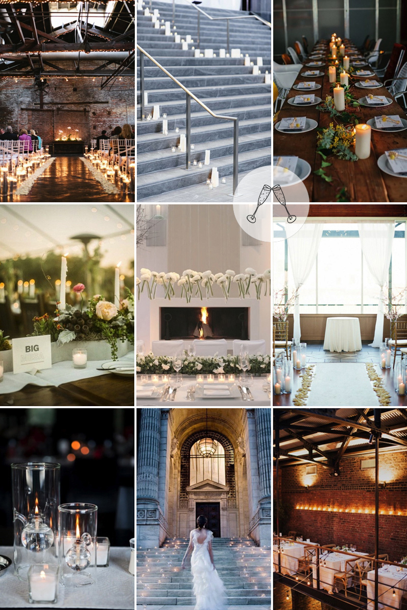 Coco Wedding Venues - City Chic Candle Inspiration.