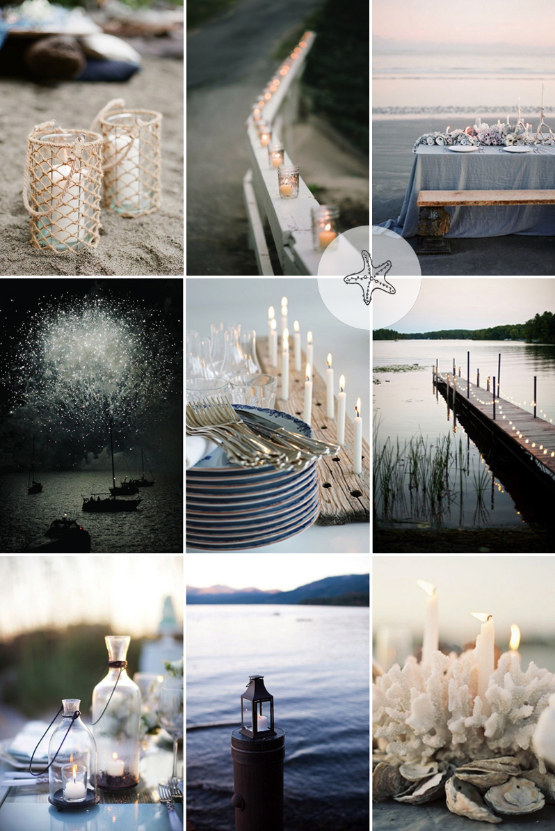 Coco Wedding Venues - Coastal Cool Candle Inspiration.