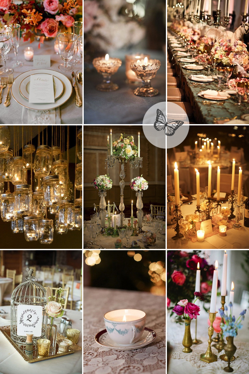 Coco Wedding Venues - Modern Vintage Candle Inspiration.