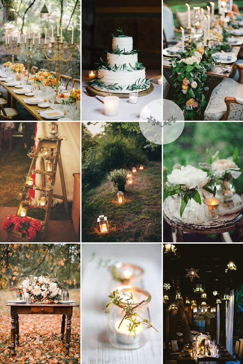 Coco Wedding Venues - Rustic Romance Candle Inspiration.