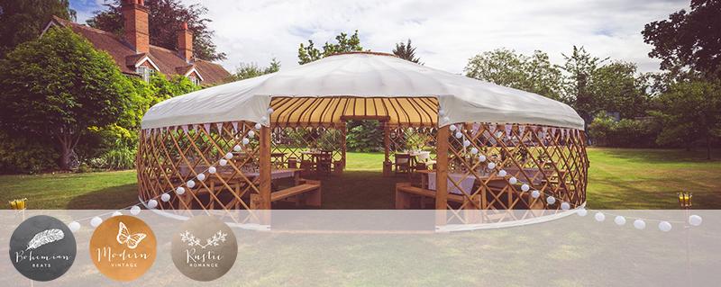 Coco Wedding Venues - Nationwide - Wedding Yurts - Image courtesy of Lizzie Jones.