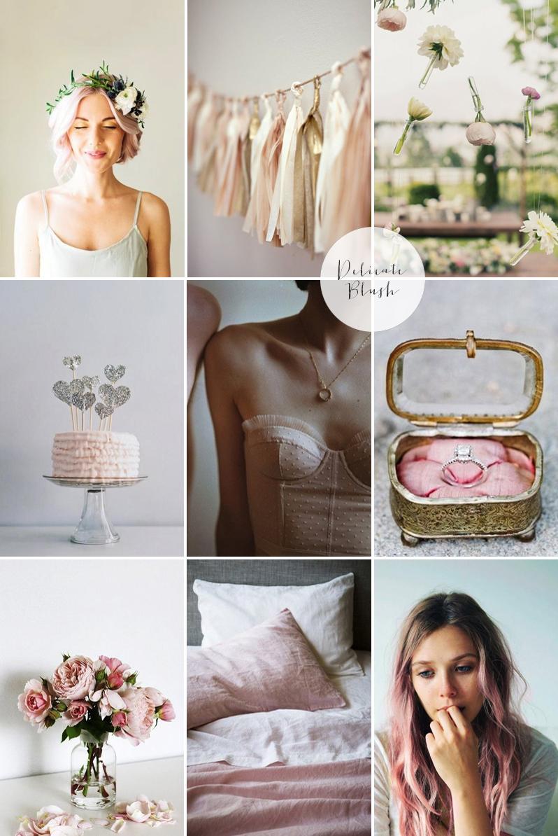 Coco Wedding Venues - Valentines - Blush Moodboard.