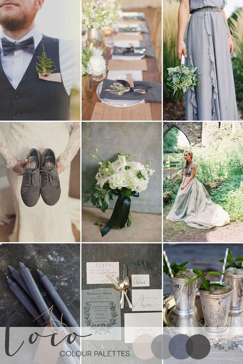 Coco Wedding Venues - Wedding Inspiration - Colour Palettes - Grey Haze.