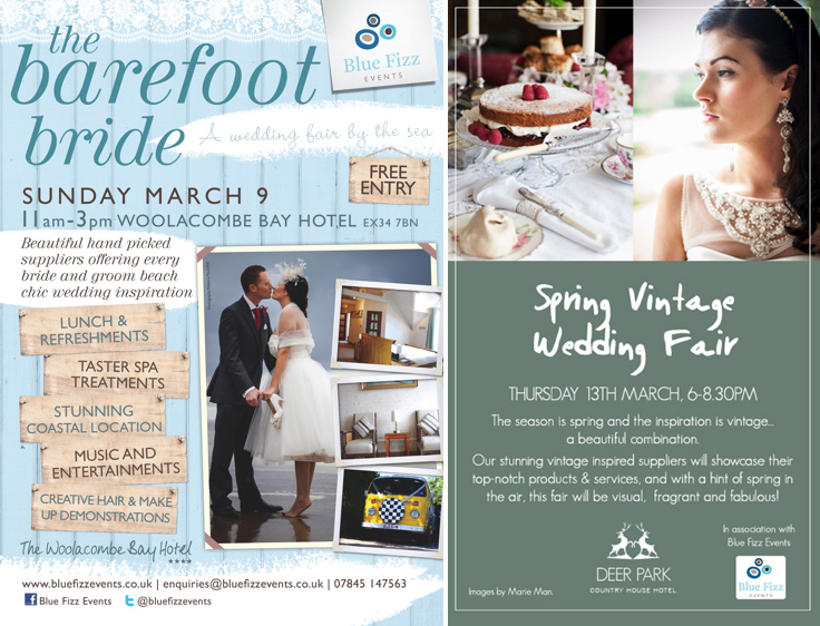 Coco Wedding Venues - Blue Fizz Events - The Barefoot Bride and Spring Vintage Wedding Fair.