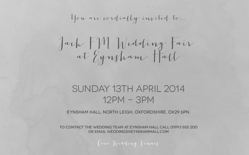 Coco Wedding Venues - Eynsham Hall Jack FM Wedding Fair Event Invitation.