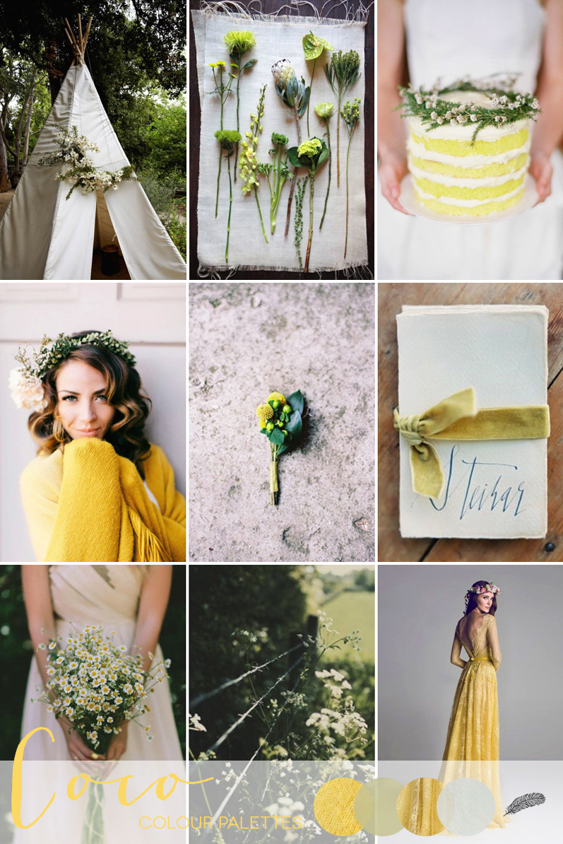 Coco Wedding Venues - Mellow Yellow - Coco Colour Palette.