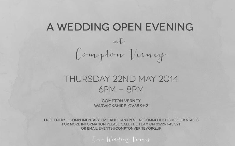 Compton Verney Event Invitation - 22 May 2014.