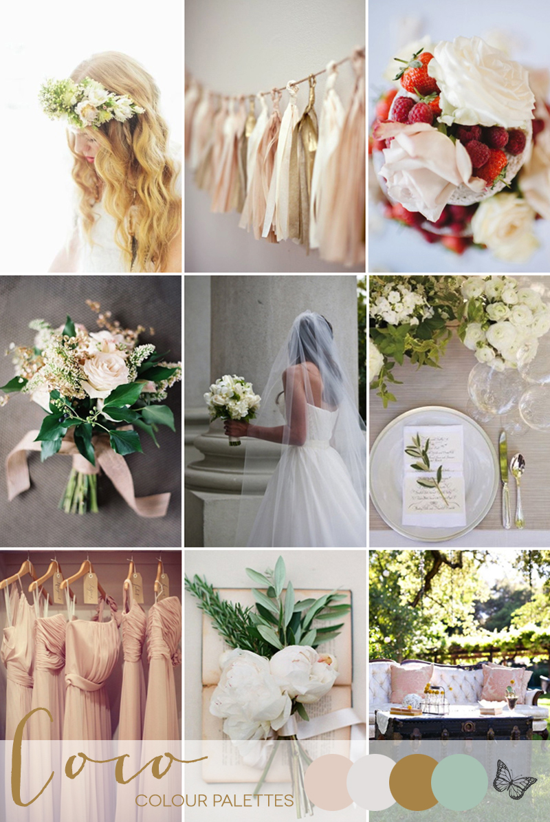 Coco Wedding Venues - Wedding Inspiration - Coco Colour Palette - A Summer Garden - Colour Palette.