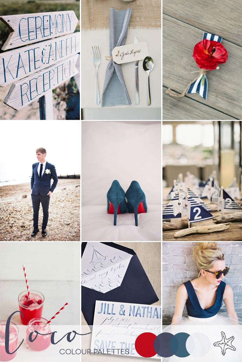 Coco Wedding Venues - Wedding Inspiration - Coco Colour Palette - Nautical Notions - Colour Palette.