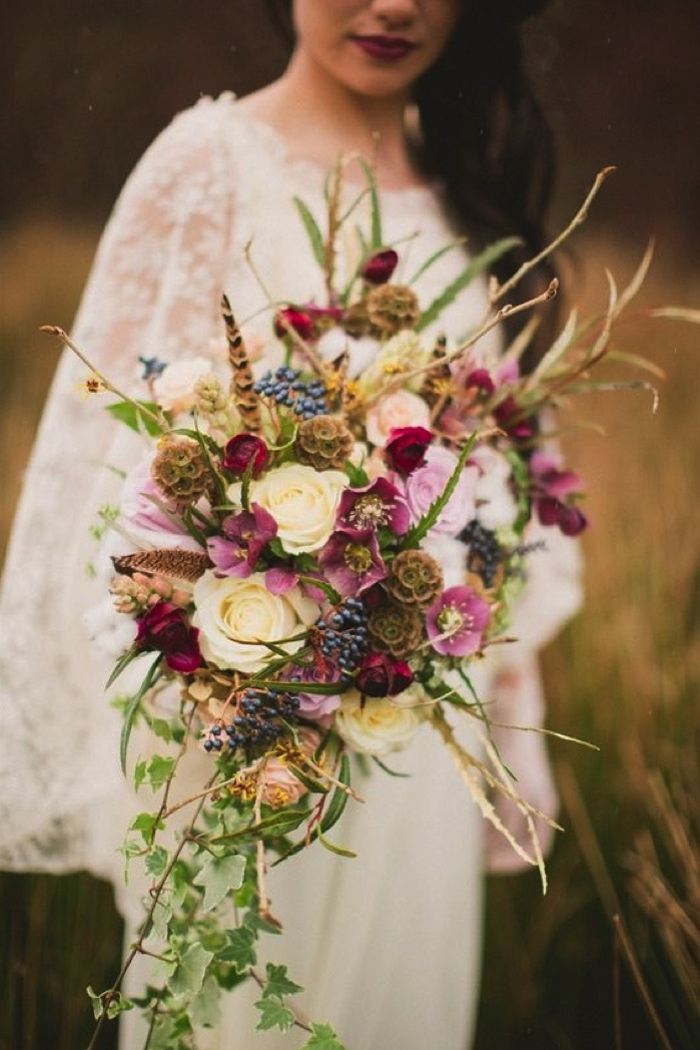 Coco wedding venues slideshow - coco-wedding-venues-bohemian-bridal-bouquets-image-by-paula-ohara-photography-flowers-by-floralearth-via-100-layer-cake-11