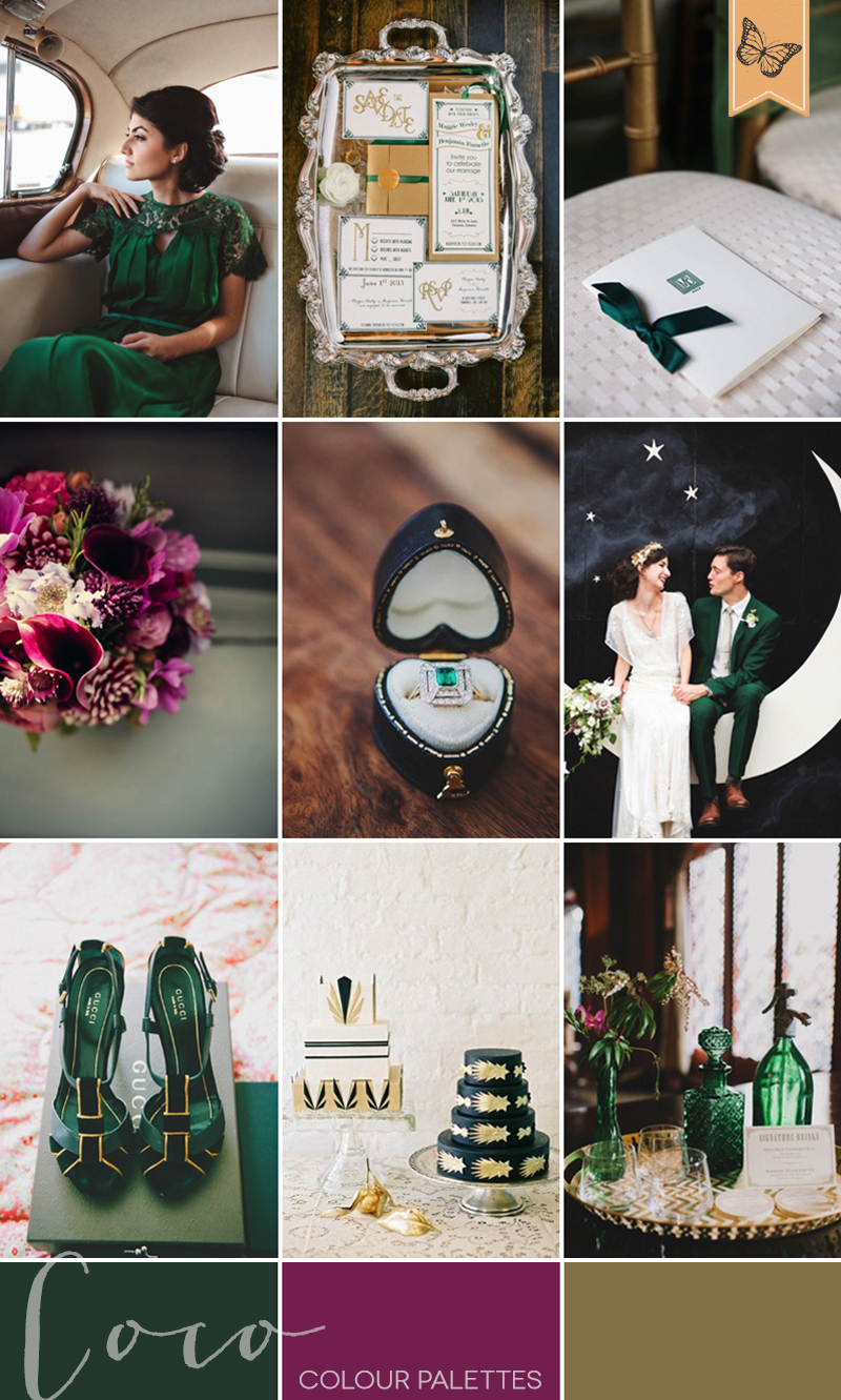 coco-wedding-venues-wedding-inspiration-coco-colour-palette-colour-modern-vintage-emerald
