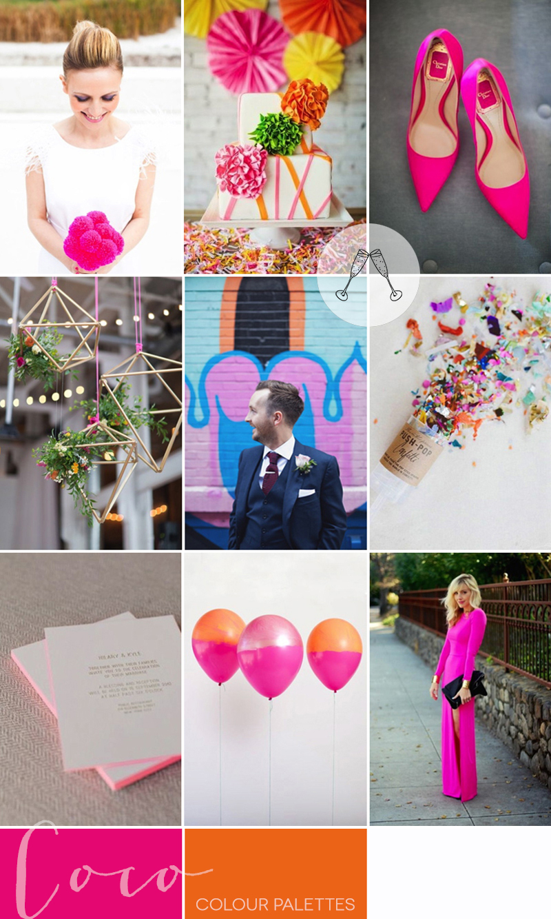 pink-orange-city-wedding-inspiration-coco-wedding-venues-colour-palette