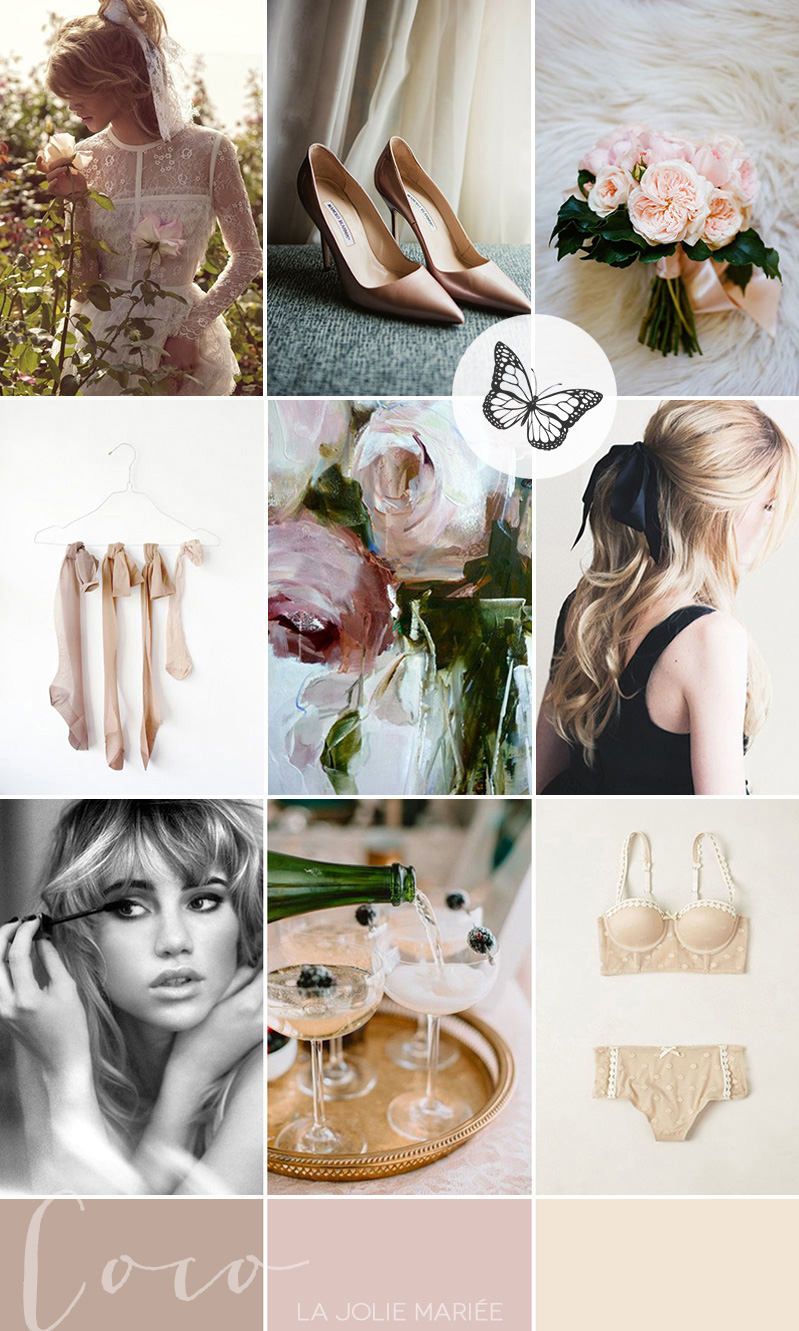 modern-vintage-bridal-boudoir-inspiration-sixties-coco-wedding-venues-coco-editorial-palette