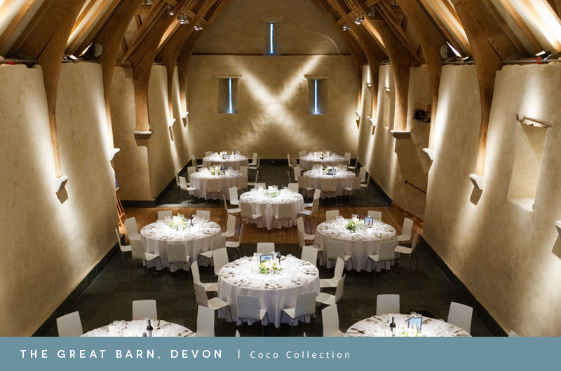 Coco wedding venues slideshow - wedding-venues-in-devon-the-great-barn-coco-wedding-venues-feature