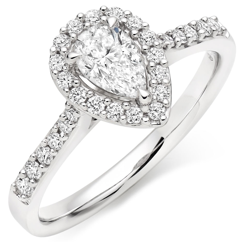 Diamond Halo Engagement Ring Collection.