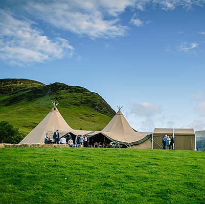 See more about Fjell Event Tipis wedding venue in Cumbria, North West