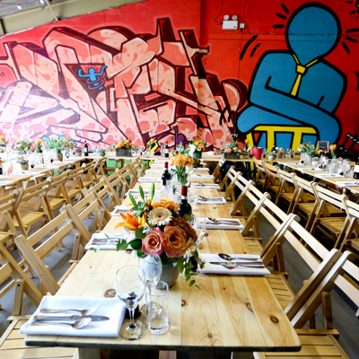 See more about The Boiler House Graffiti Gallery wedding venue in Cardiff,  Wales