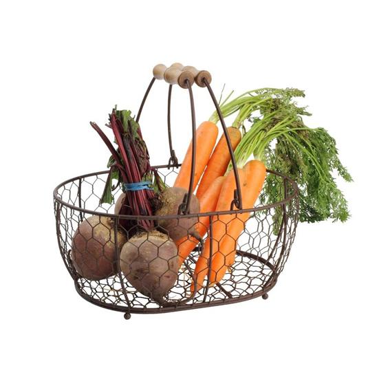 T&G Provence Medium Oval Basket Rustic Brown - £18.95