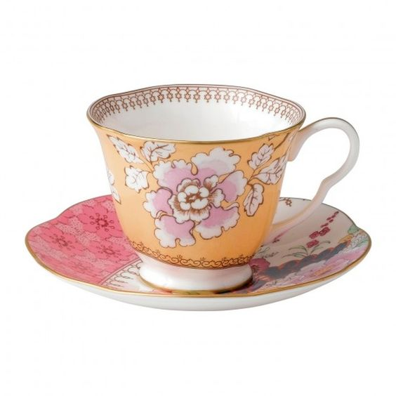 Wedgwood Butterfly Bloom Tea Cup and Saucer Yellow - £37.00