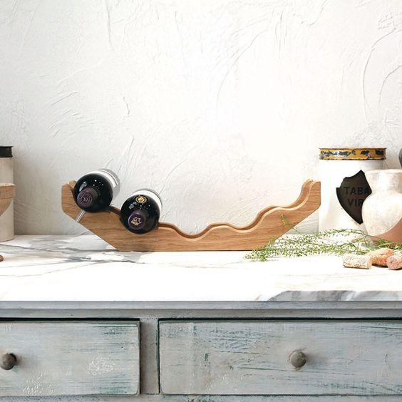 Hop & Peck Oak Wine Rack - £99.00