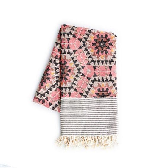 Graham & Green Aztec Blanket, Rose - £65.00