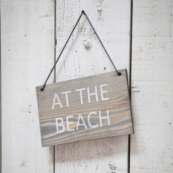 Garden Trading Wooden Hanging Sign, At the Beach - £11.00