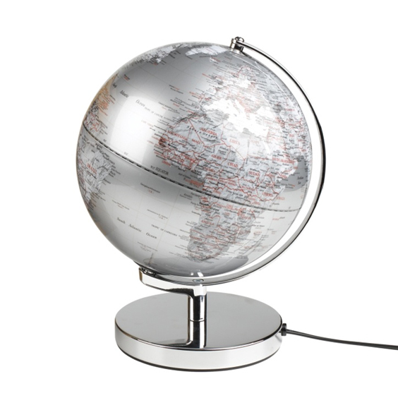 "Wild & Wolf 10"" Globe Light, Silver - £74.95"