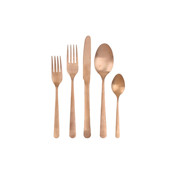 Canvas Home Oslo Five Piece Cutlery Set Matt Copper - £56.50.