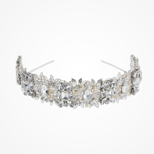 Diana elaborately embellished headpiece by Halo and Co - £435.