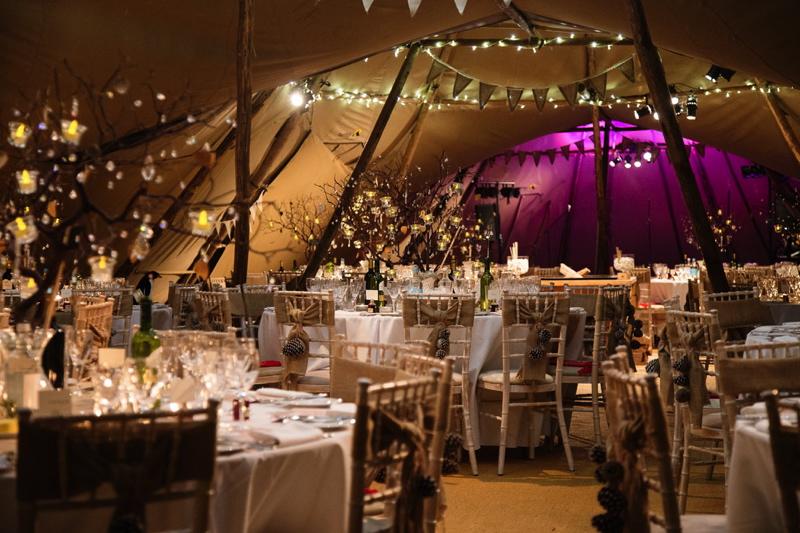 Real Tipi Weddings: Kira & AJ's Winter Tipi Wedding