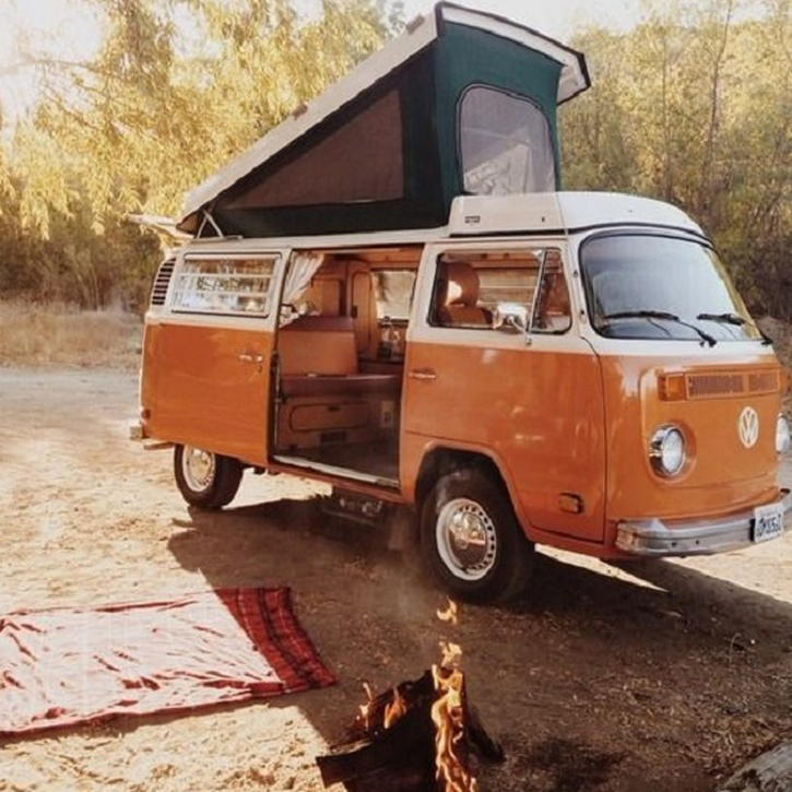 Honeymoon Break in a VW Camper Van, £100.00.