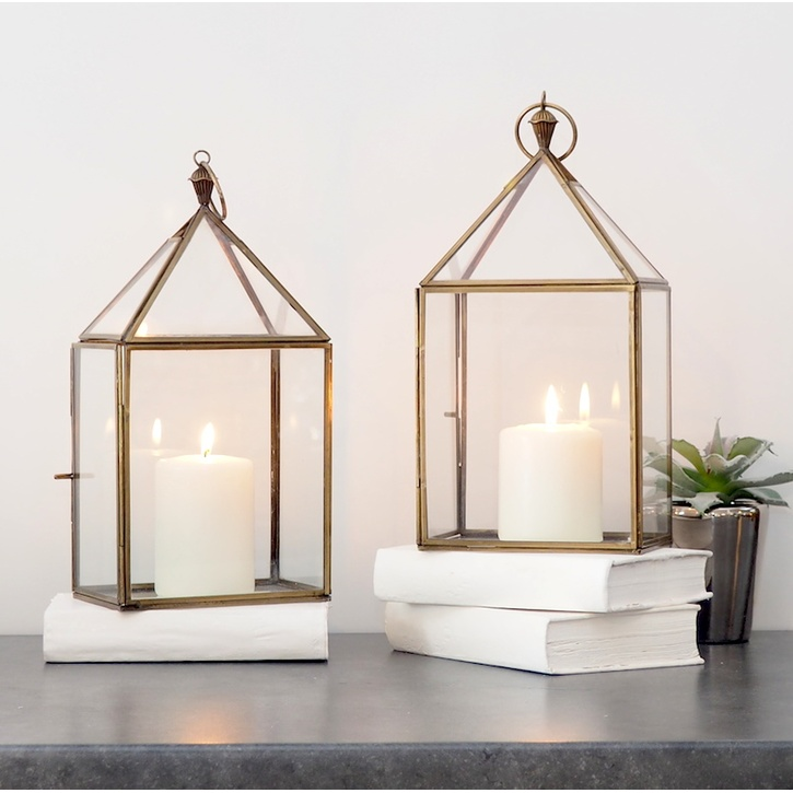 ZaZa Homes Brass Candle Lantern £47.00.