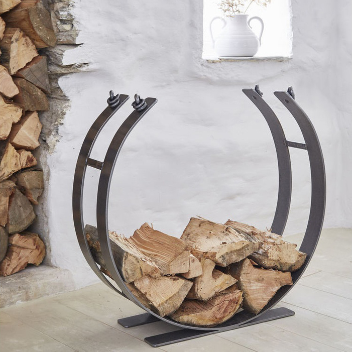 Nordic House Artisan Wrought Iron Log Ring, Extra Large £295.00.