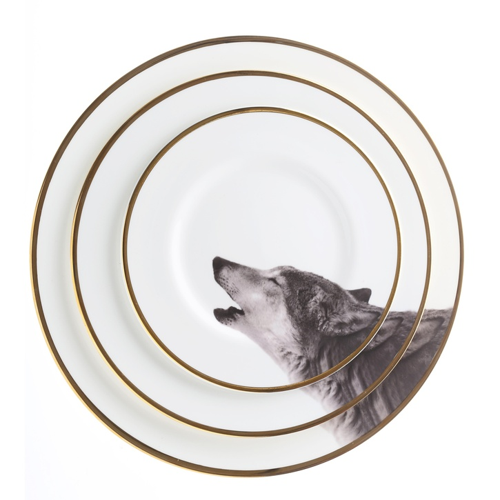 Melody Rose Urban Nature Howling Wolf Bone China Dinner Plate £45.00.
