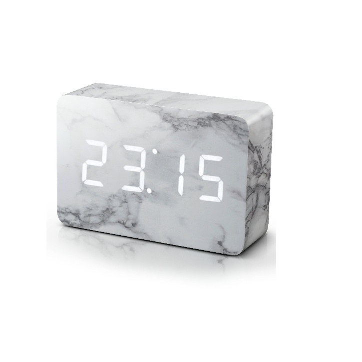 Gingko Brick Marble Effect Click Clock - £49.99.