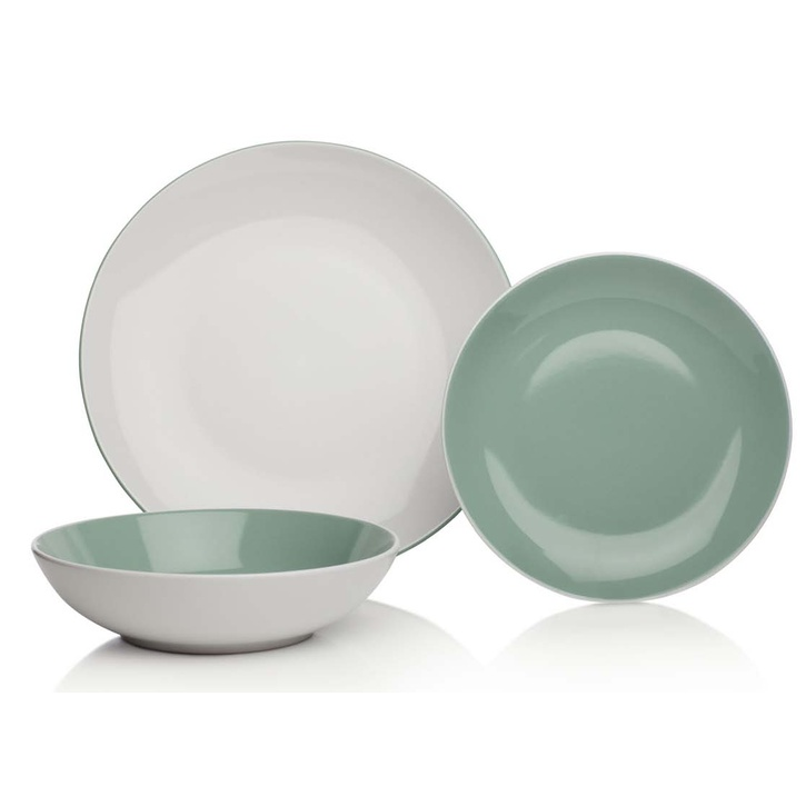 Essential Collection Dining Cornish 12pc Dinner Set, Green - £70.00.