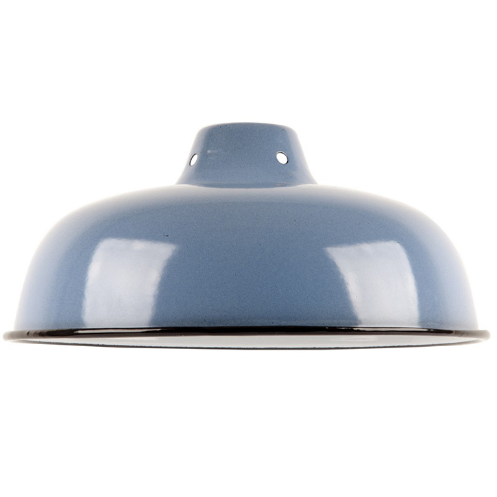 Ian Snow Enamel Lampshade, Medium, Denim - £18.99.